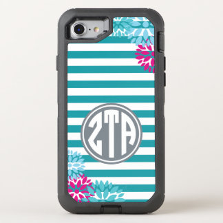 Zeta Tau Alpha | Monogram Stripe Pattern OtterBox Defender iPhone 7 Case