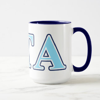 Zeta Tau Alpha Navy Blue and Baby Blue Letters Mug