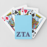 Zeta Tau Alpha Navy Letters Bicycle Playing Cards