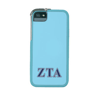 Zeta Tau Alpha Navy Letters Case For iPhone 5