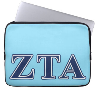 Zeta Tau Alpha Navy Letters Computer Sleeves