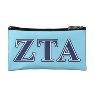 Zeta Tau Alpha Navy Letters Cosmetic Bag