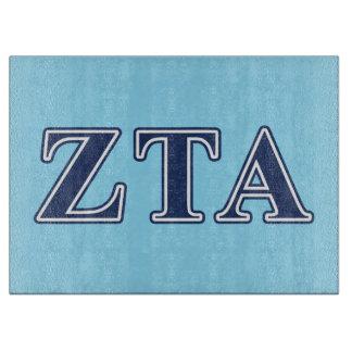 Zeta Tau Alpha Navy Letters Cutting Boards