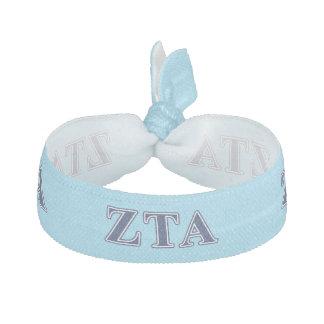 Zeta Tau Alpha Navy Letters Hair Tie