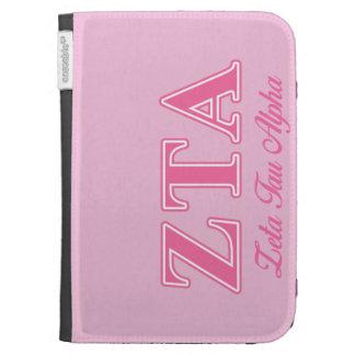 Zeta Tau Alpha Pink Letters Kindle Cover