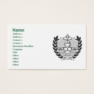 Fraternal business cards templates zazzle zeta zeta zeta fraternity crest bampw business card reheart Image collections