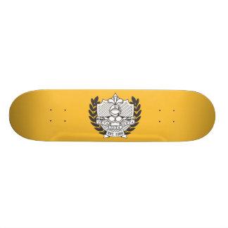 Zeta Zeta Zeta Fraternity Crest - B&W Skate Boards