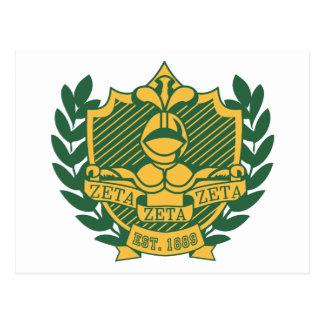 Zeta Zeta Zeta Fraternity Crest - Color Postcard