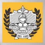 Zeta Zeta Zeta Fraternity Crest - Color Poster