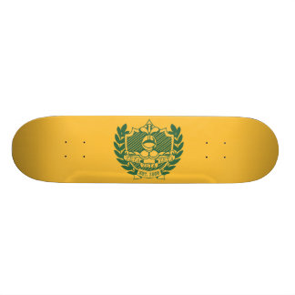 Zeta Zeta Zeta Fraternity Crest - Color Custom Skateboard