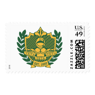 Zeta Zeta Zeta Fraternity Crest - Color Stamp