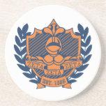 Zeta Zeta Zeta Fraternity Crest - Navy/Orange Beverage Coasters