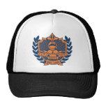 Zeta Zeta Zeta Fraternity Crest - Navy/Orange Trucker Hat
