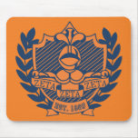 Zeta Zeta Zeta Fraternity Crest - Navy/Orange Mouse Pad