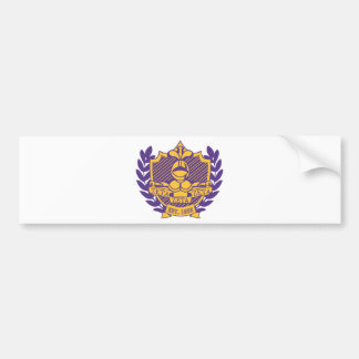 Zeta Zeta Zeta Fraternity Crest - Purple/Gold Bumper Sticker