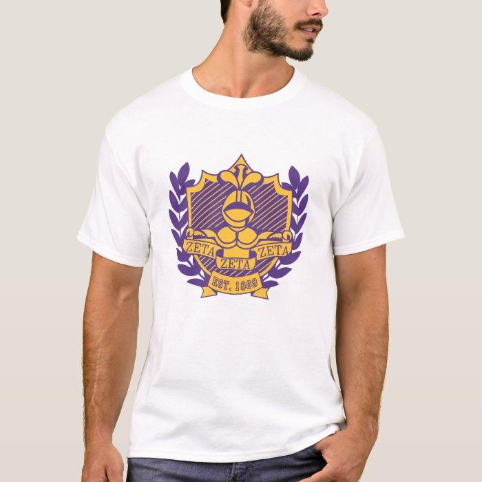 Zeta Zeta Zeta Fraternity Crest - Purple/Gold T-Shirt