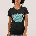 Zeta Zeta Zeta Fraternity Crest - Teal/Grey T-Shirt