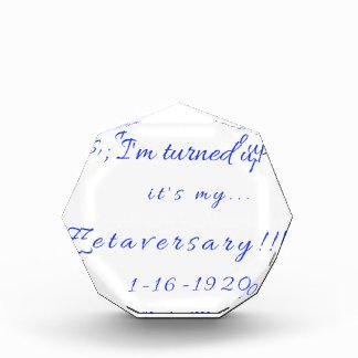 Zetaversary Acrylic Award