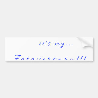 Zetaversary Bumper Sticker