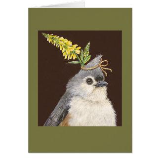 Zetta the titmouse card