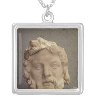 Zeus, 69-96 AD Silver Plated Necklace