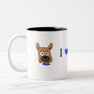"""""""Zeus"""" amo mi perro Taza De Café De Dos Colores"""