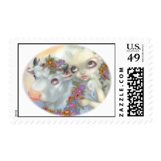 """""""Zeus and Europa"""" Stamp"""