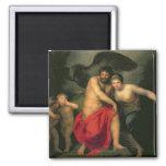 Zeus and Hera on Mount Ida, 1775 2 Inch Square Magnet
