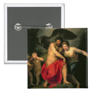 Zeus and Hera on Mount Ida, 1775 2 Inch Square Button