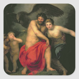 Zeus and Hera on Mount Ida, 1775 Square Sticker