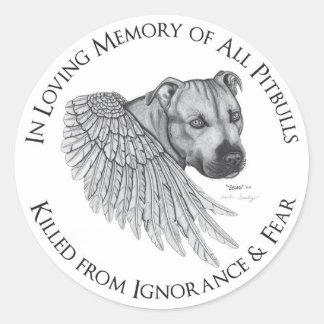 Zeus angel classic round sticker