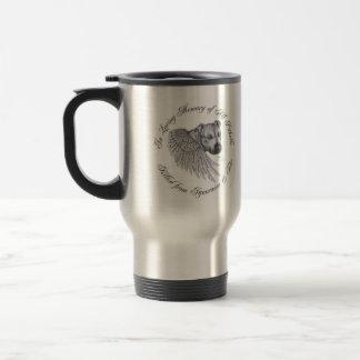 "Zeus angel ""left handed"" travel mug"