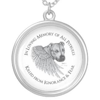 Zeus angel round pendant necklace