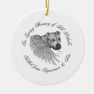 Zeus angel Double-Sided ceramic round christmas ornament