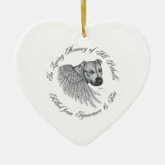 Zeus angel Double-Sided heart ceramic christmas ornament