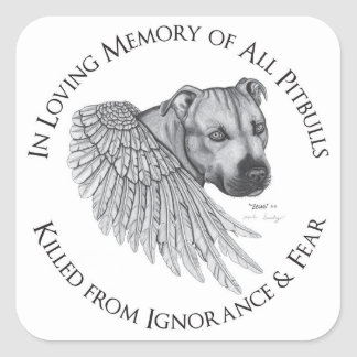 Zeus angel square sticker