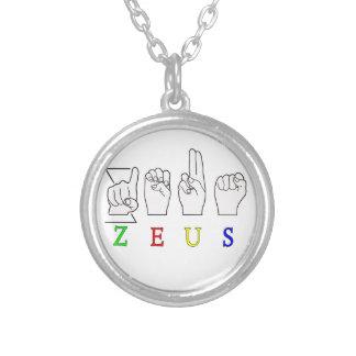 ZEUS ASL FINGERSPELLED MALE NAME PENDANTS
