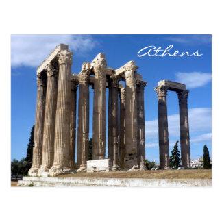 zeus Atenas del templo Postales