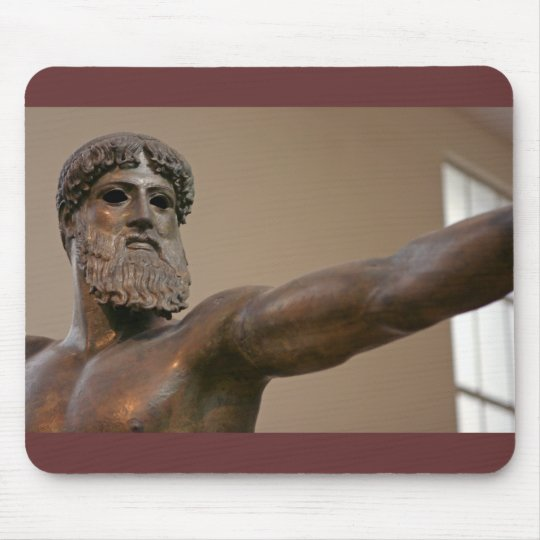 Zeus bronze statue in Athens Greece Mouse Pad