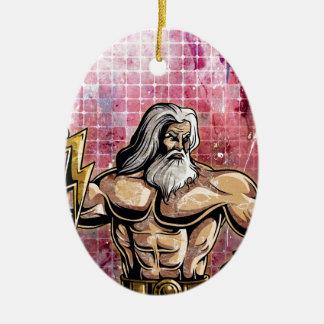 Zeus Ceramic Ornament