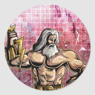 Zeus Classic Round Sticker