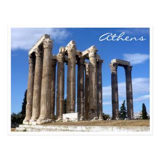 zeus del templo de Atenas Tarjetas Postales