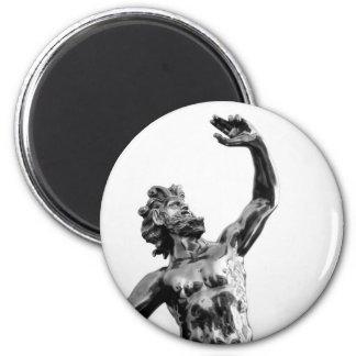 Zeus, dios griego imán redondo 5 cm