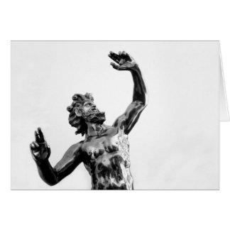 Zeus, dios griego tarjeta de felicitación
