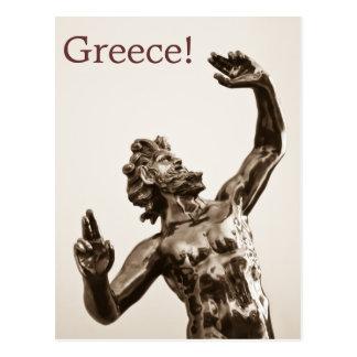 Zeus, dios griego tarjetas postales