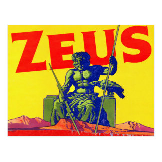 Zeus - diseño del poster del vintage tarjetas postales