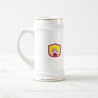 Zeus Greek God Arms Cross Thunderbollt Retro Coffee Mug