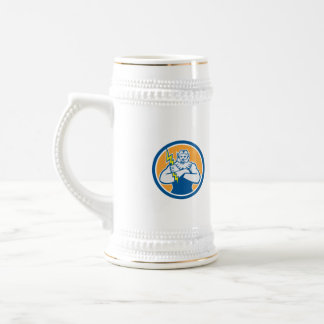Zeus Greek God Arms Cross Thunderbolt Circle Retro Coffee Mug
