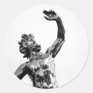 Zeus, greek god classic round sticker