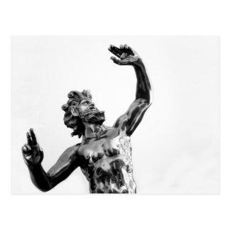 Zeus, greek god postcard